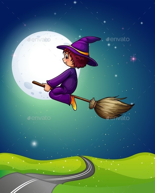 Witch Flying - People Characters