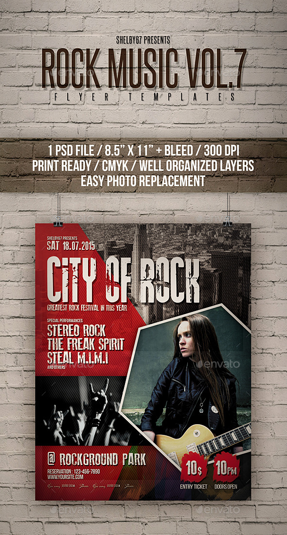 Rock Music Flyer / Poster Vol 7 - Events Flyers