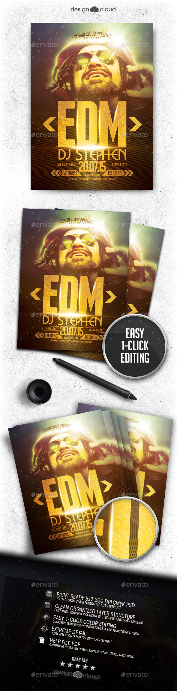 DJ Vol 1 Flyer Template - Clubs & Parties Events