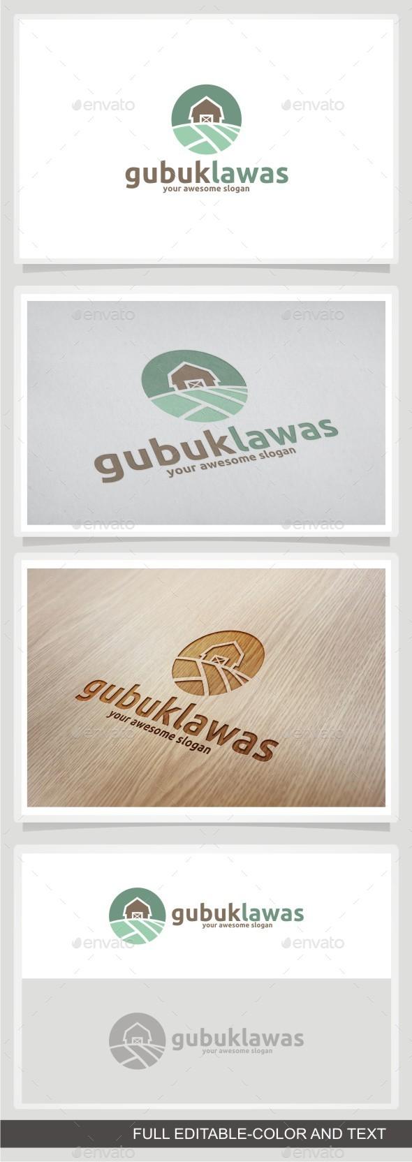 Gubuk Lawas - Buildings Logo Templates