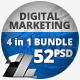 52 Business Marketing Web Banners - 4 in 1 Bundle - GraphicRiver Item for Sale
