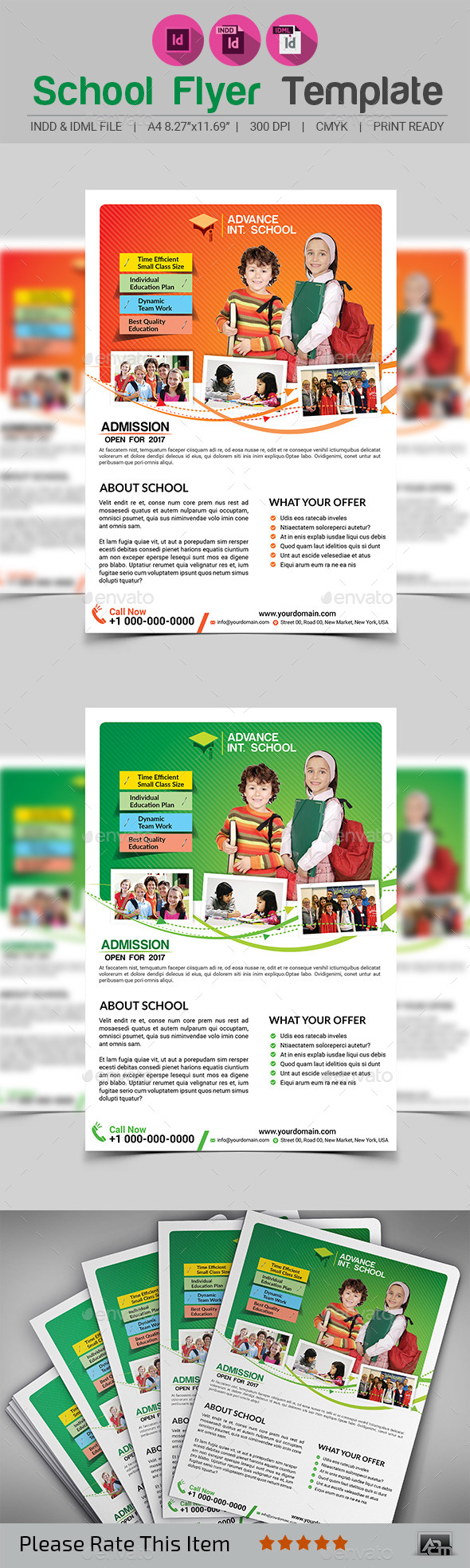 School Flyer Template V2 - Corporate Flyers