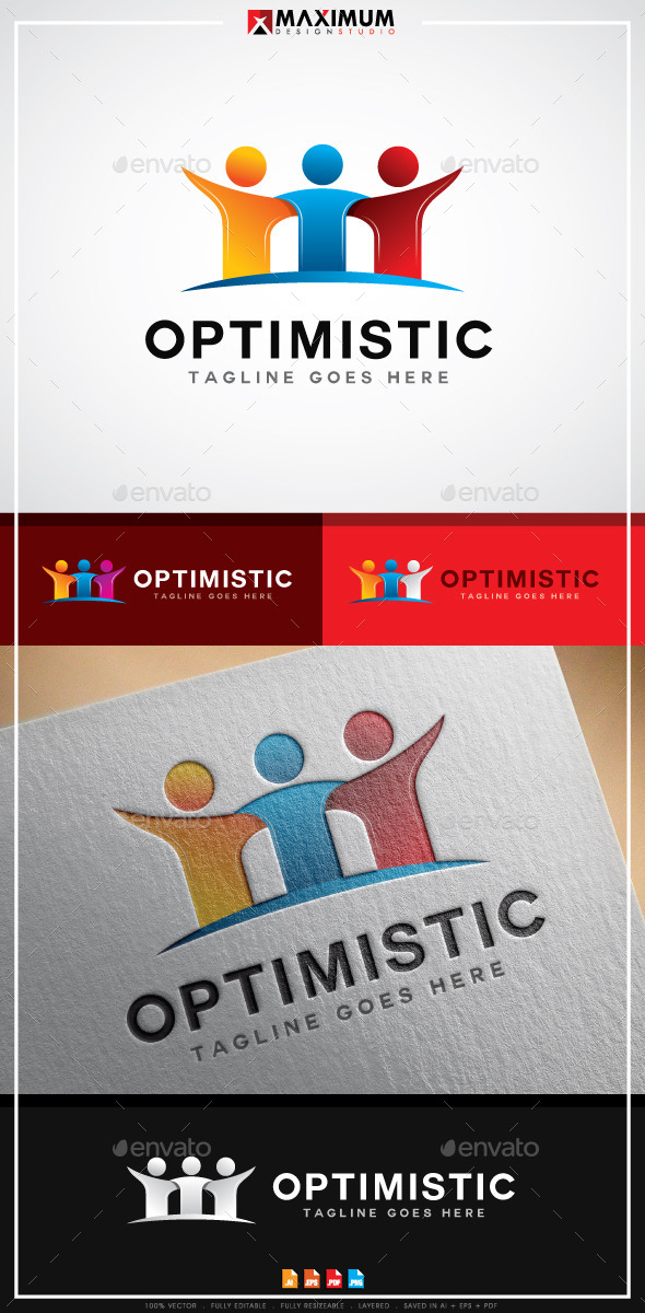 Optimistic Logo - Humans Logo Templates