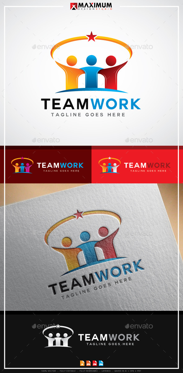 TeamWork Logo - Humans Logo Templates