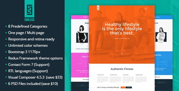 ENDLESS – One page / Multi Page WordPress Theme