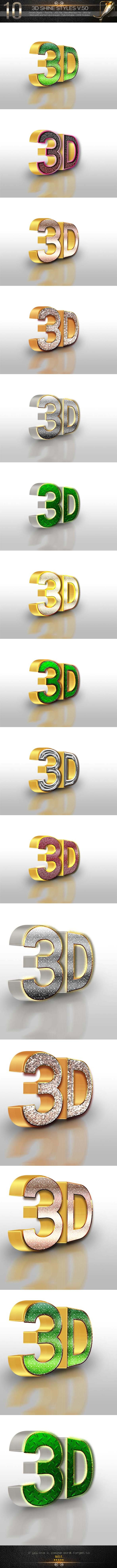10 3D Text Style V.50 - Text Effects Styles