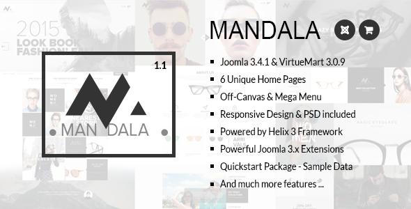 Mandala – Responsive Joomla & VirtueMart Template