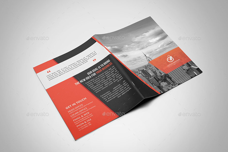Corporate bi fold brochure by cristal p graphicriver for Two fold brochure templates