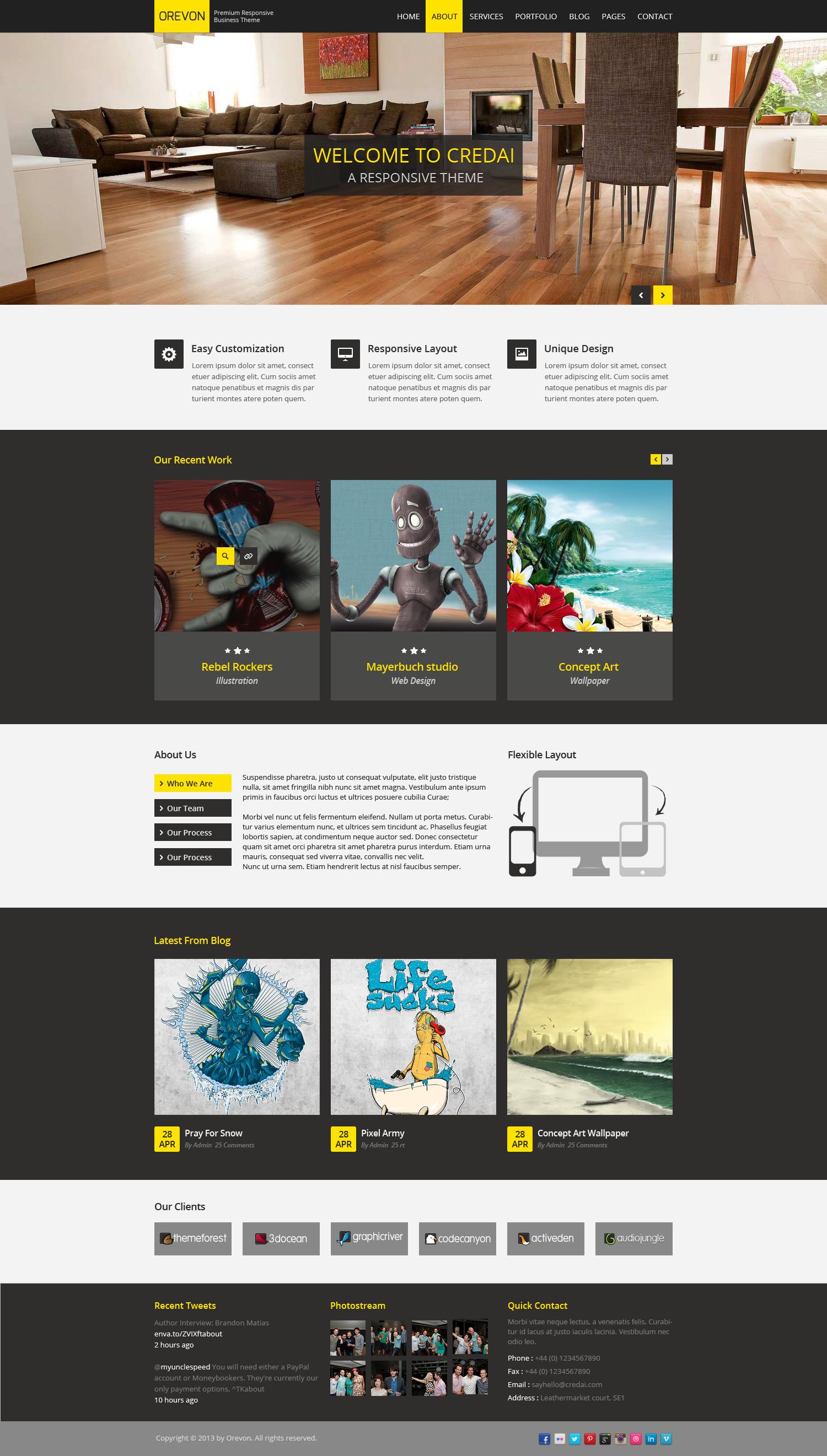 Orevon - Multipurpose HTML5 Responsive Template by mannatstudio ...
