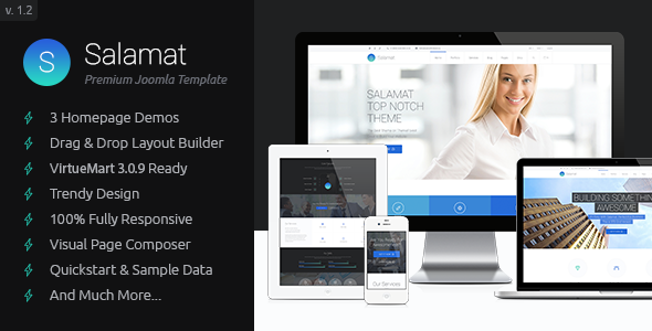 Salamat – Multipurpose Business Joomla Template