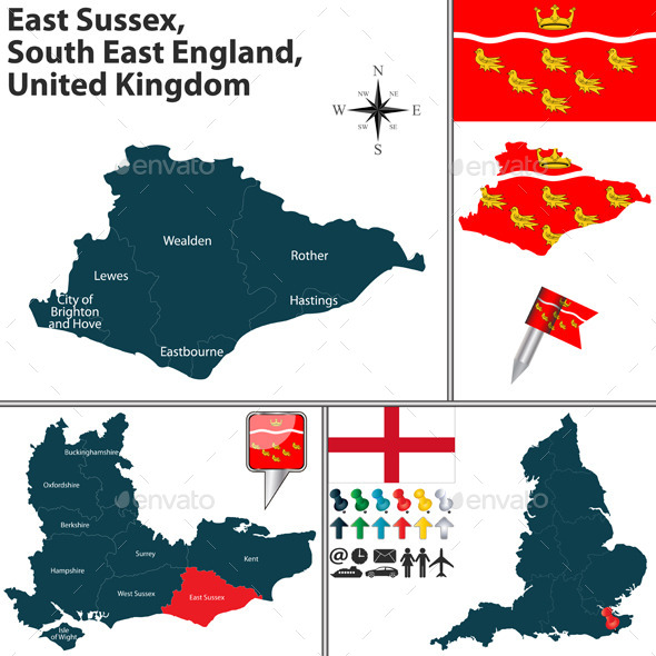 East Sussex, South East England, UK - Travel Conceptual