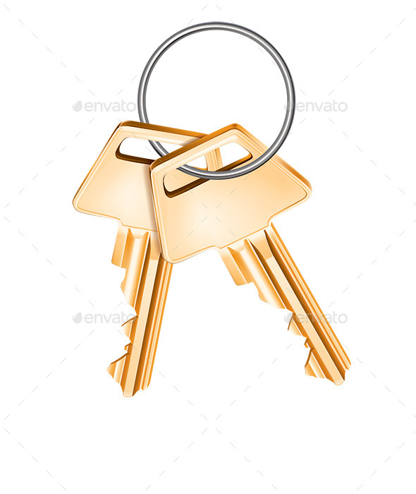 Golden Keys - Man-made Objects Objects