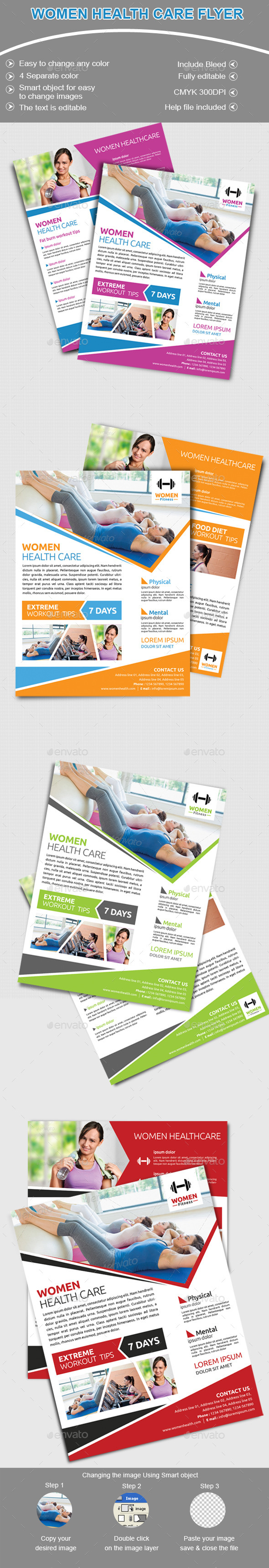 Women Health Care Club Flyer - Flyers Print Templates