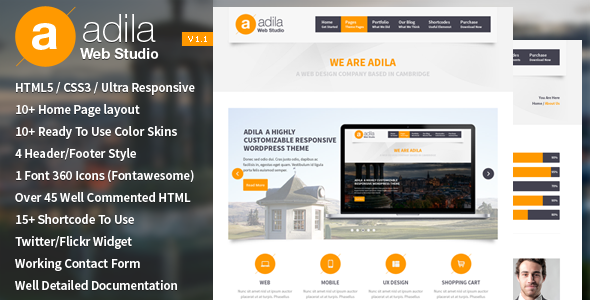 Adila: Multipurpose Business HTML Template - Business Corporate