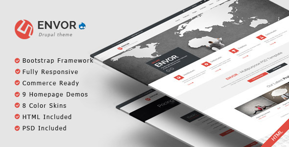 Envor – Fully Multipurpose Drupal Theme