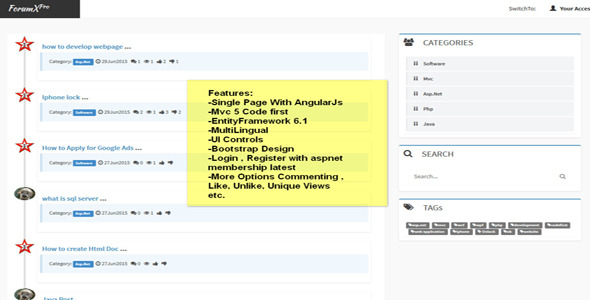 ForumX - (Mvc 5 Forum Application) - CodeCanyon Item for Sale