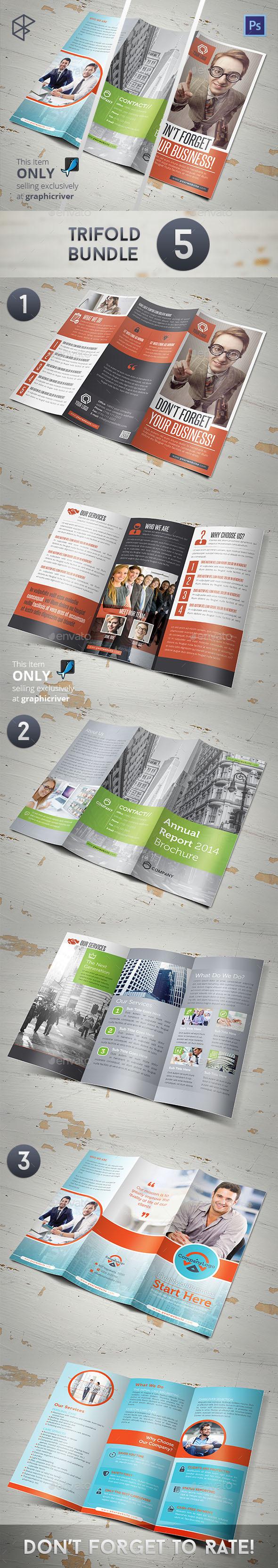 Trifold Bundle 5 - Corporate Brochures