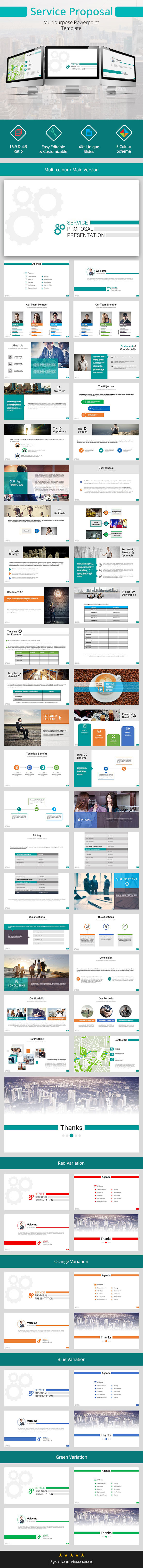 Service Proposal Presentation - Business PowerPoint Templates