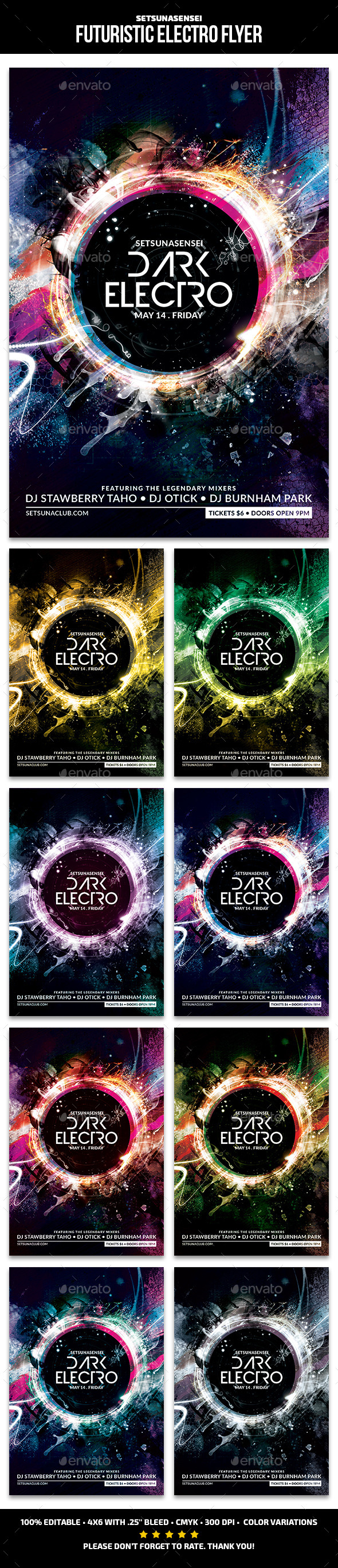 Futuristic Electro Flyer - Clubs & Parties Events