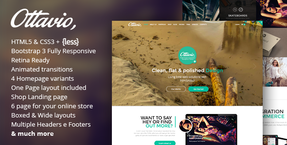 Ottavio – Multipurpose HTML5 Bootstrap Template