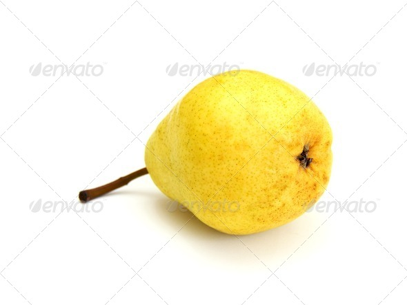 A single pear - Stock Photo - Images