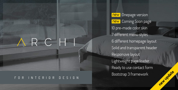 Archi – Interior Design Website Template