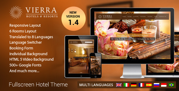Vierra – Responsive Hotel WordPress Theme