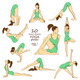 Set of Isolated Yoga Poses. - GraphicRiver Item for Sale