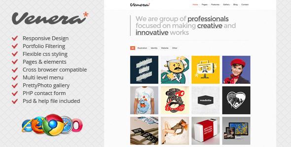 Venera - Responsive HTML Template - Portfolio Creative