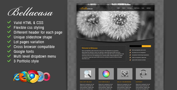 Bellacasa – Clean & Modern Website Template