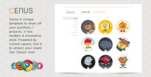 Cenus – Modern Minimalist Website Template