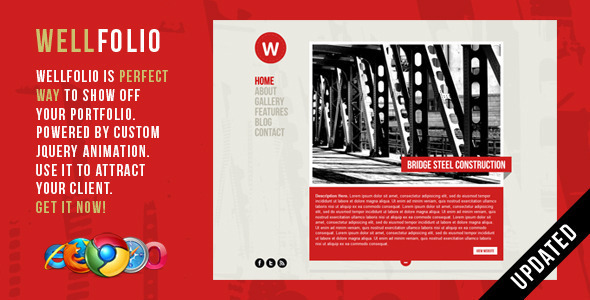 Wellfolio – Perfect Minimalist Portfolio Template