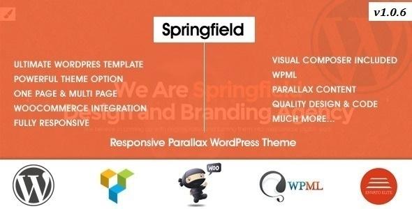 Springfield – Responsive Parallax WordPress Theme