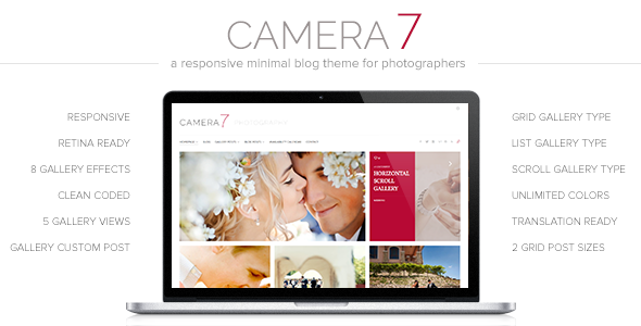 Camera 7 – Minimal Photography WordPress Theme
