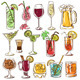 Set of Isolated Colorful Cocktails. - GraphicRiver Item for Sale