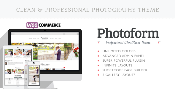 Photoform – Photography WordPress Theme