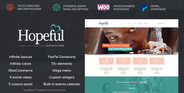 Hopeful – Church/Non-Profit WordPress Theme