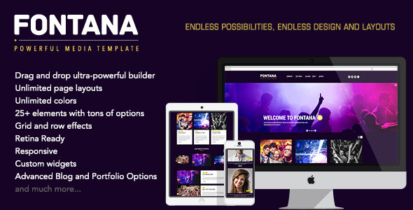 Fontana – Powerful Media WordPress Theme