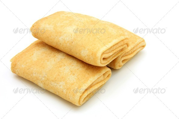 fried pancakes stuffed - Stock Photo - Images
