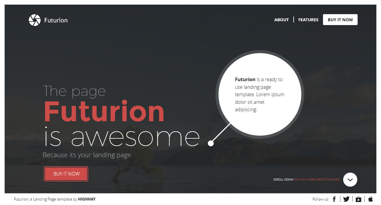 Futurion - Beautiful Landing page template by mivfx | ThemeForest