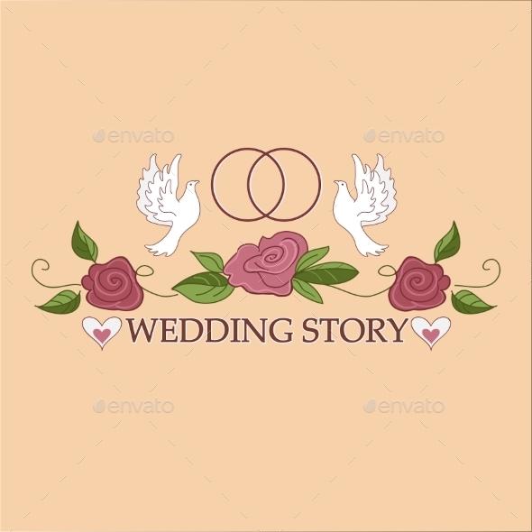 Wedding Labels Logo - Borders Decorative