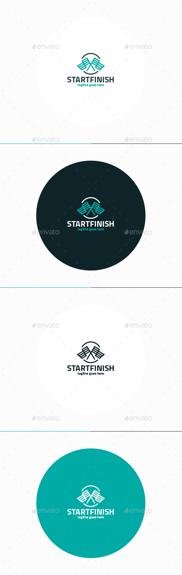 Start Finish Logo - Symbols Logo Templates