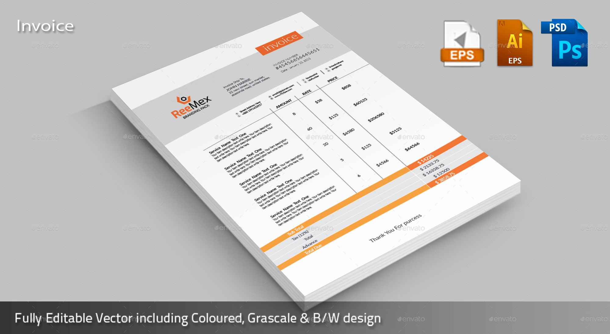 Reemex Corporate Invoice By Expomedia Graphicriver