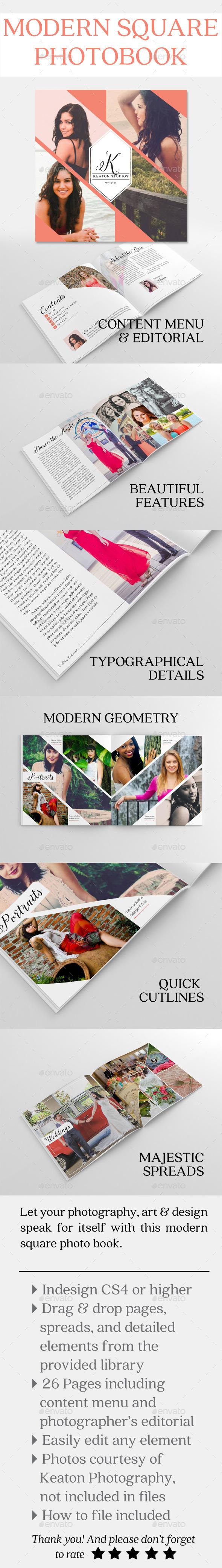 Modern Square Photo Book - Portfolio Brochures