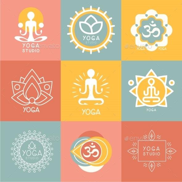 Set Of Yoga And Meditation Symbols - Miscellaneous Vectors
