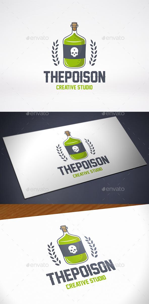 Poison Bottle Logo Template - Crests Logo Templates