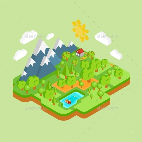 Environment Friendly Natural Landscape  - Nature Conceptual