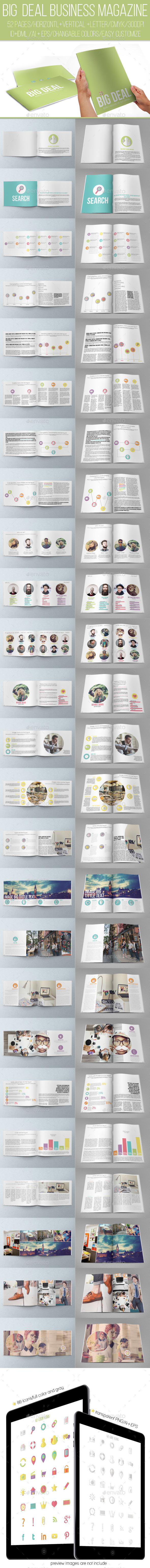 Big Deal Business Magazine - Magazines Print Templates