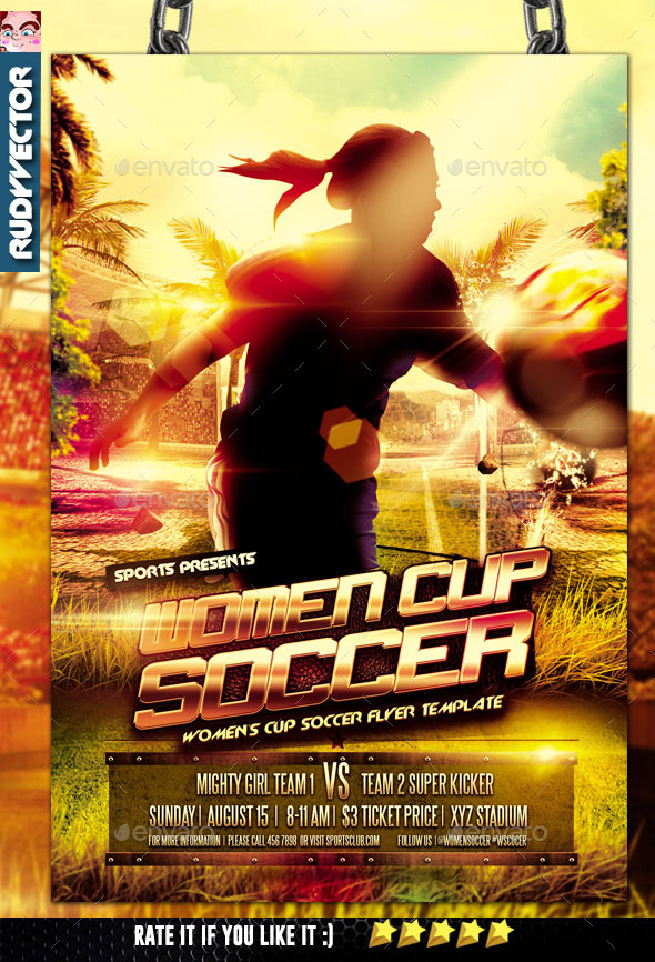 Women Cup Soccer Flyer Design - Sports Events