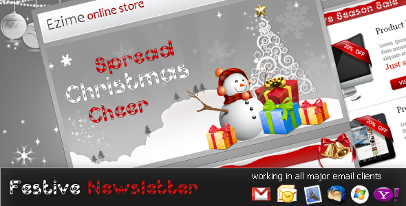 Free Download Festive - NewsLetter Template Nulled Latest Version